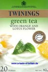 Twinings Green Tea with Orange and Lotus Flower 20