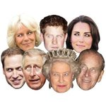 Papiermasken Royal Family