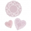 doilies mix n pink
